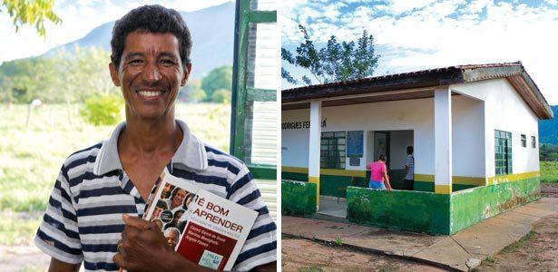 Manoel Neirton de Oliveira, da EJA e a escola com sala anexa em Santo Antônio de Leverger. Fotos: Danny Yin