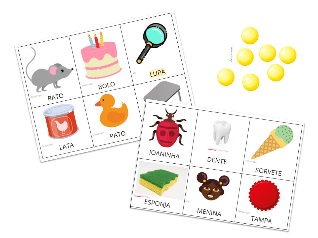 Plano De Aula 1º Ano Lingua Portuguesa Bingo De Silabas Iniciais