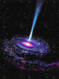 Um exemplo de buraco negro. Imagem: NASA/JPL