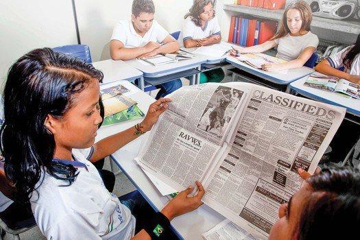 Ao explorar entrevistas publicadas em jornais estrangeiros, a turma se aproximou do gênero. Agência Lusco