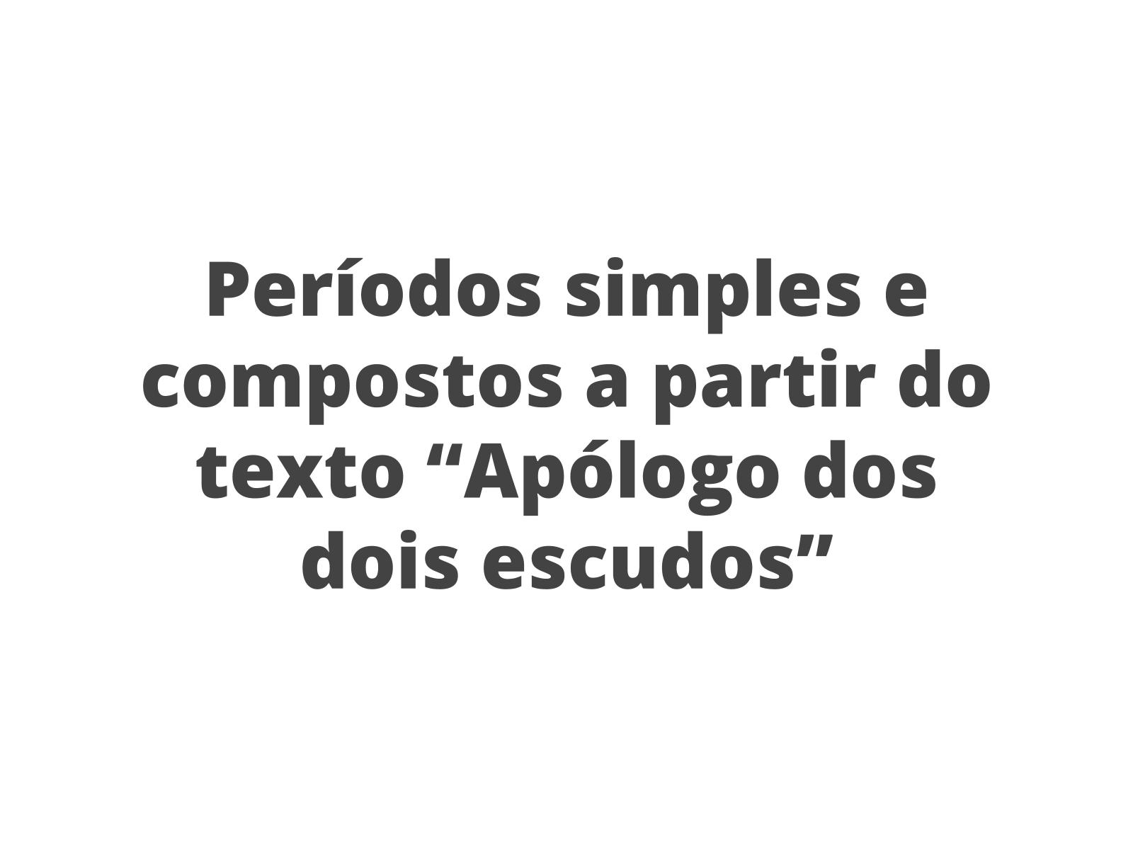 O verbo como núcleo oracional dos períodos simples e compostos: descoberta