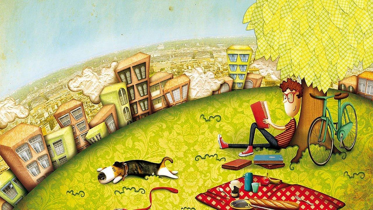 Ilustração de Bruna Assis Brasil para o livro infantil 10 Bons Conselhos do meu Pai, de João Ubaldo Ribeiro
