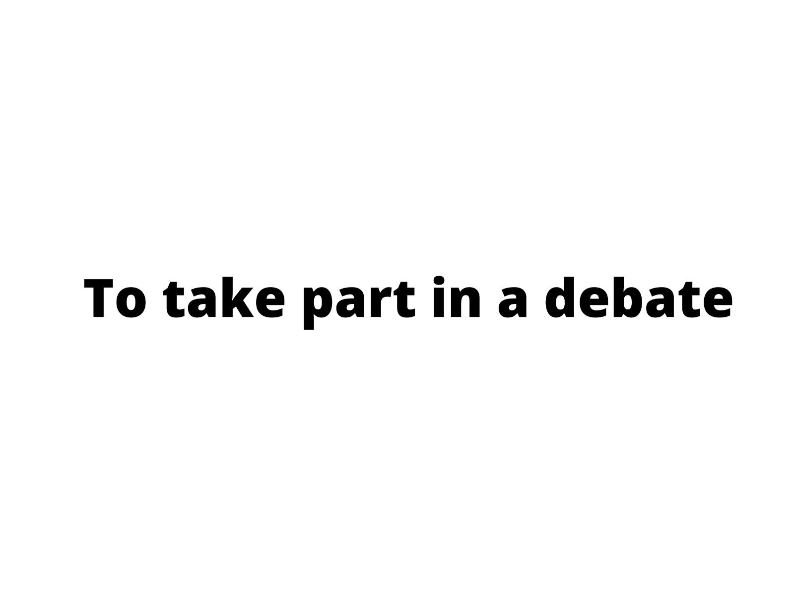 Concordar e discordar em debates