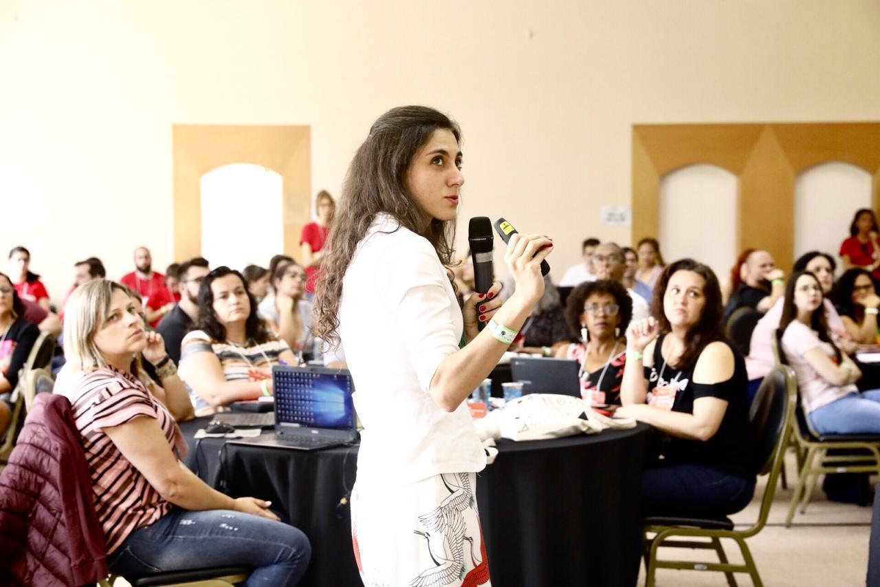Marcele Guerra, antropóloga, durante evento Virada de Autores