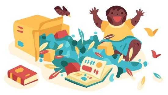 Motivar a interação dos bebês por elementos de histórias