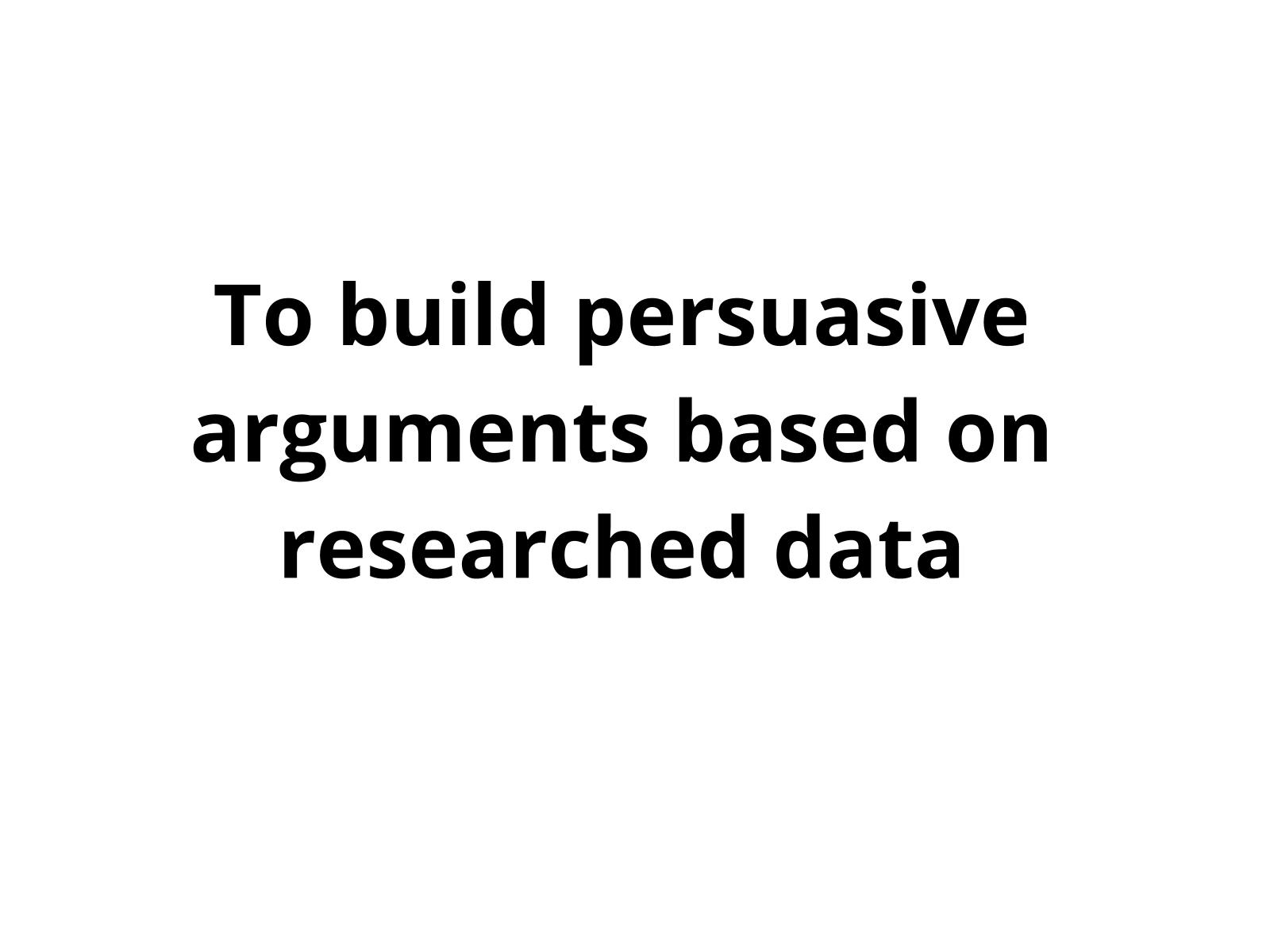 Construção da persuasão