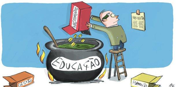 Por que o Brasil precisa investir mais em Educação? Ilustração: Benett