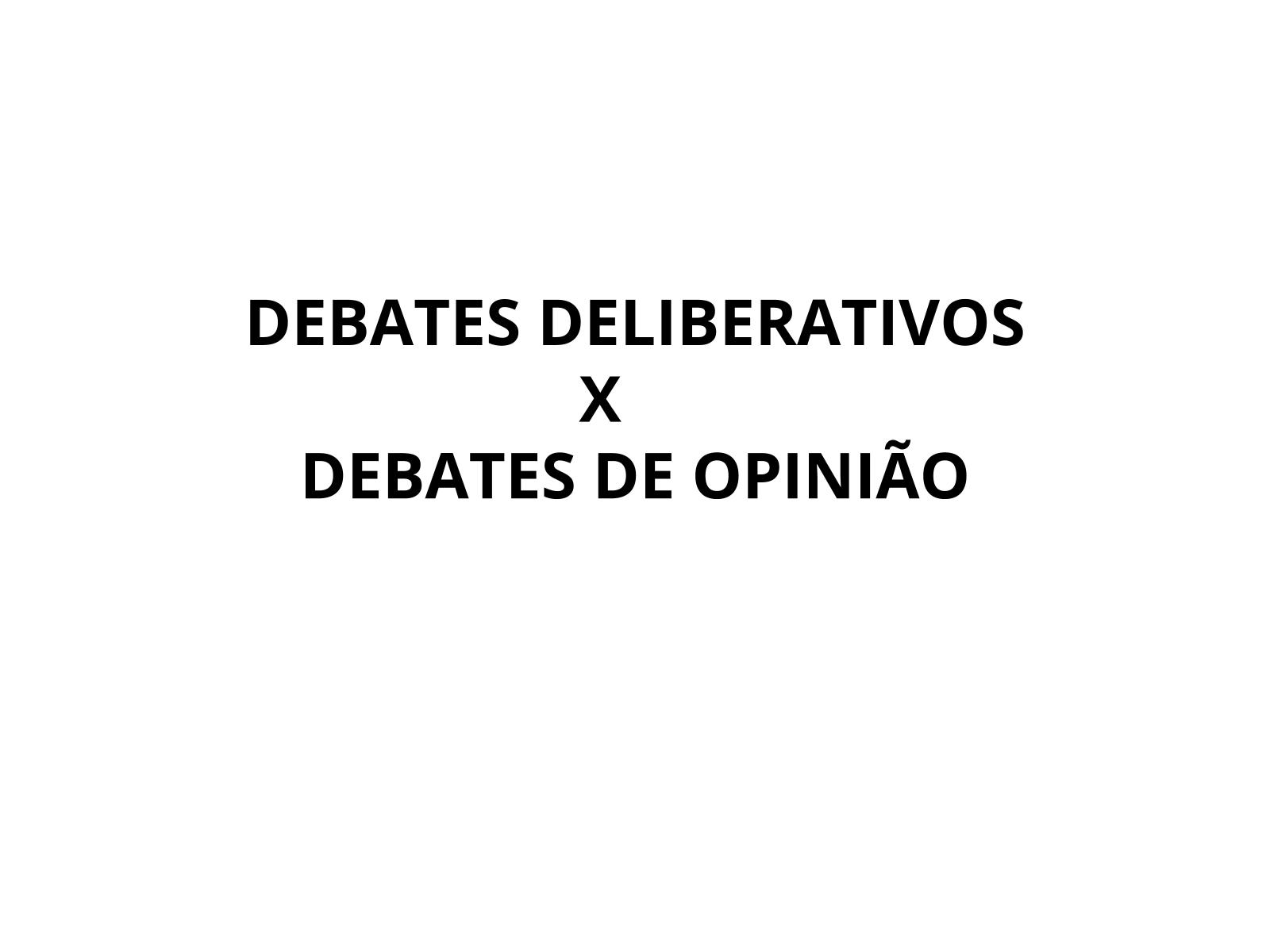 Planejamento de um debate