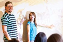 Estudantes com o professor Ailton. Foto: Marina Piedade
