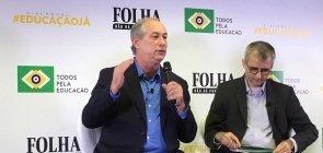 O candidato do PDT à Presidência, Ciro Gomes, durante sabatina promovida pelo Todos pela Educação