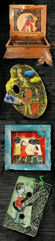O homem e a arte. Ilustração: Bruno Algarve e Daisy Biagini