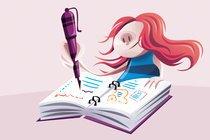 Lazer e aprendizado. Ilustração: Orlandeli