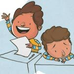 Algumas crianças não interagem. Ilustração: Pedro Hamdan