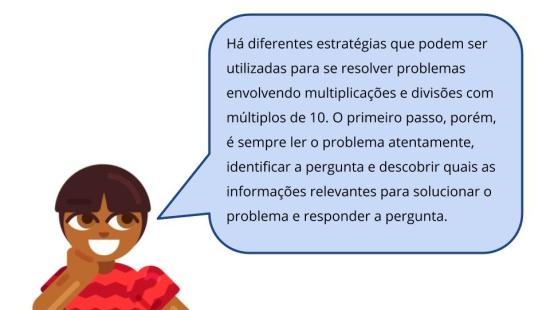 Cálculo mental com múltiplos de 10 - Problemas de multiplicação e divisão