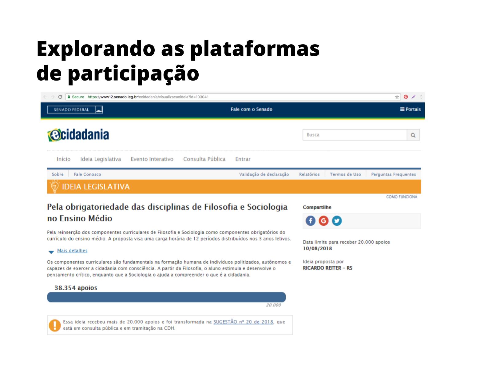 Conhecendo o gênero petição online