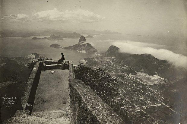 Corcovado no início do século | Crédito: Augusto Malta/ Coleção Brascan Cem Anos no Brasil/ Acervo Instituto Moreira Salles