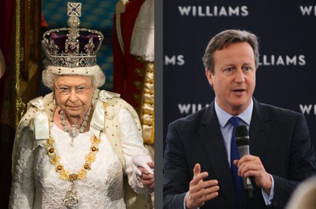 Reino Unido. Rainha Elizabeth e o primeiro-ministro David Cameron. CRÉDITO: UK Parliament/ Roger Harris e The Prime Minister?s Office