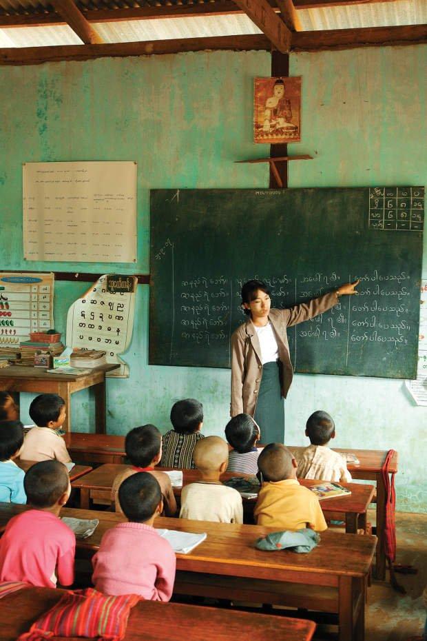 Educação primária em Mianmar. Foto: Caio Vilela