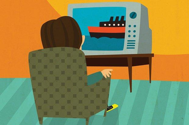 Outro meio de comunicação, a TV, atinge grandes públicos. A família se reúne em volta do aparelho para acompanhar a novela e o noticiário. Sergio Magno