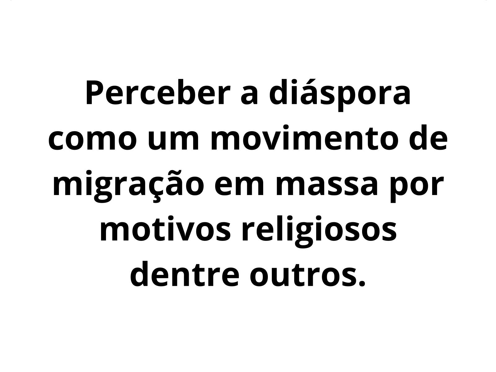 Diásporas e intolerância religiosa