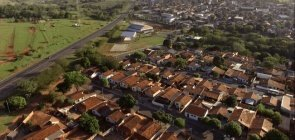 Foto aerea da cidade de Espírito Santo do Turvo