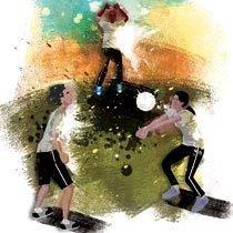 Minivôlei. Ilustração: Bruno Algarve