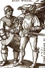 Camponeses alemães durante a revolta do século 16: luta por ascensão social e instrução. Foto: Bettman/Corbis /Stock Photos