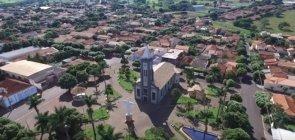 Vista aérea de Alvares Florence, cidade localizada no interior de São Paulo, próxima ao município de Votuporanga