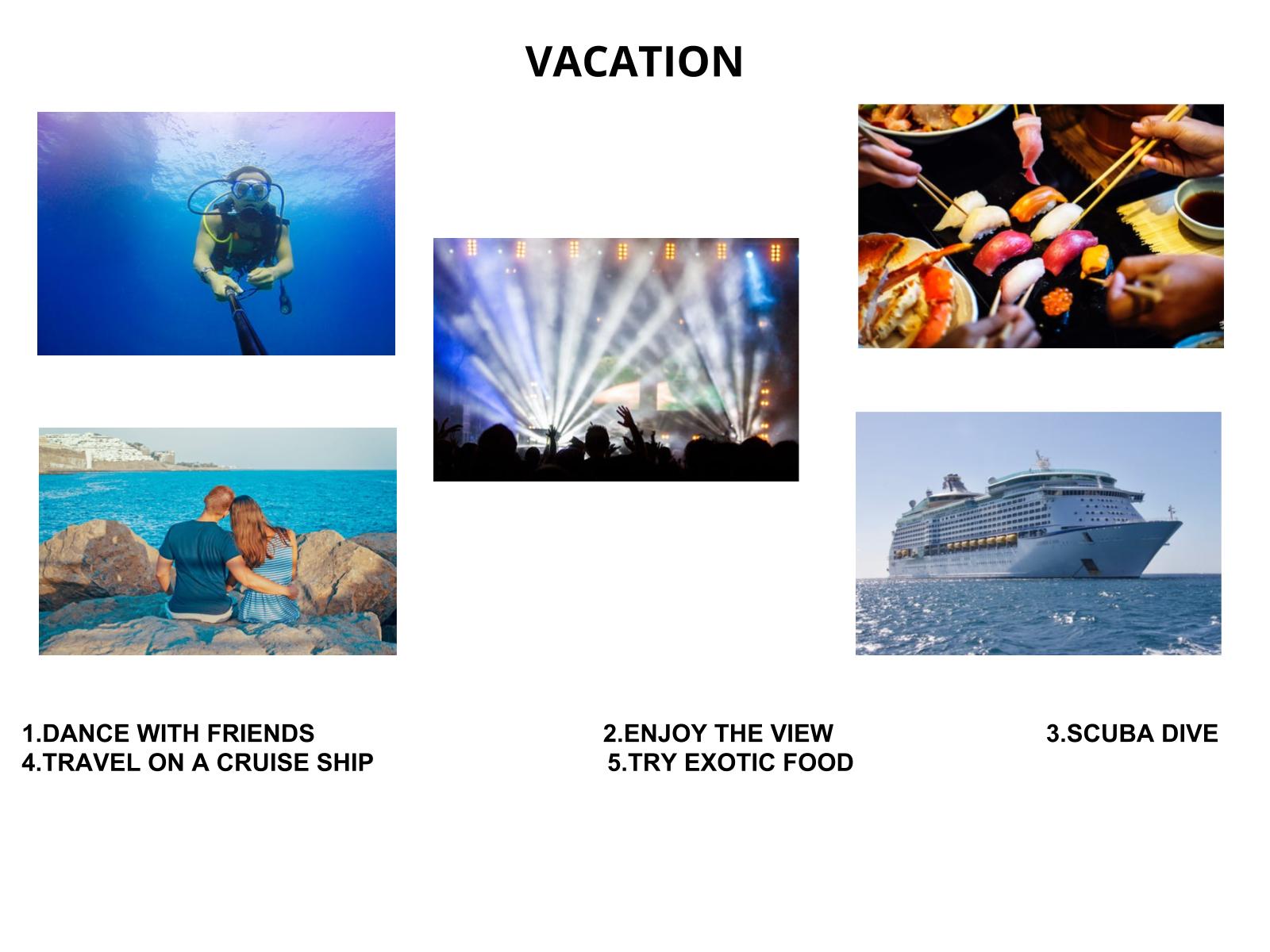 Conversando sobre as férias