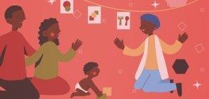 Apresentando a nova rotina aos bebês e a seus familiares no retorno
