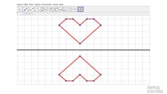 Simetria de reflexão utilizando o GeoGebra