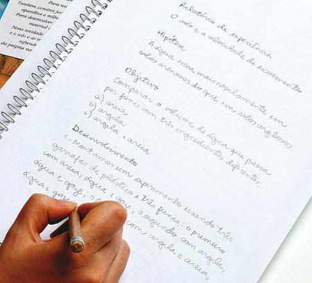 Ter clareza: Linguagem objetiva e descrição clara de tudo o que ocorreu na atividade são o segredo para a classe produzir relatórios de boa qualidade. Foto: Leo Drummond