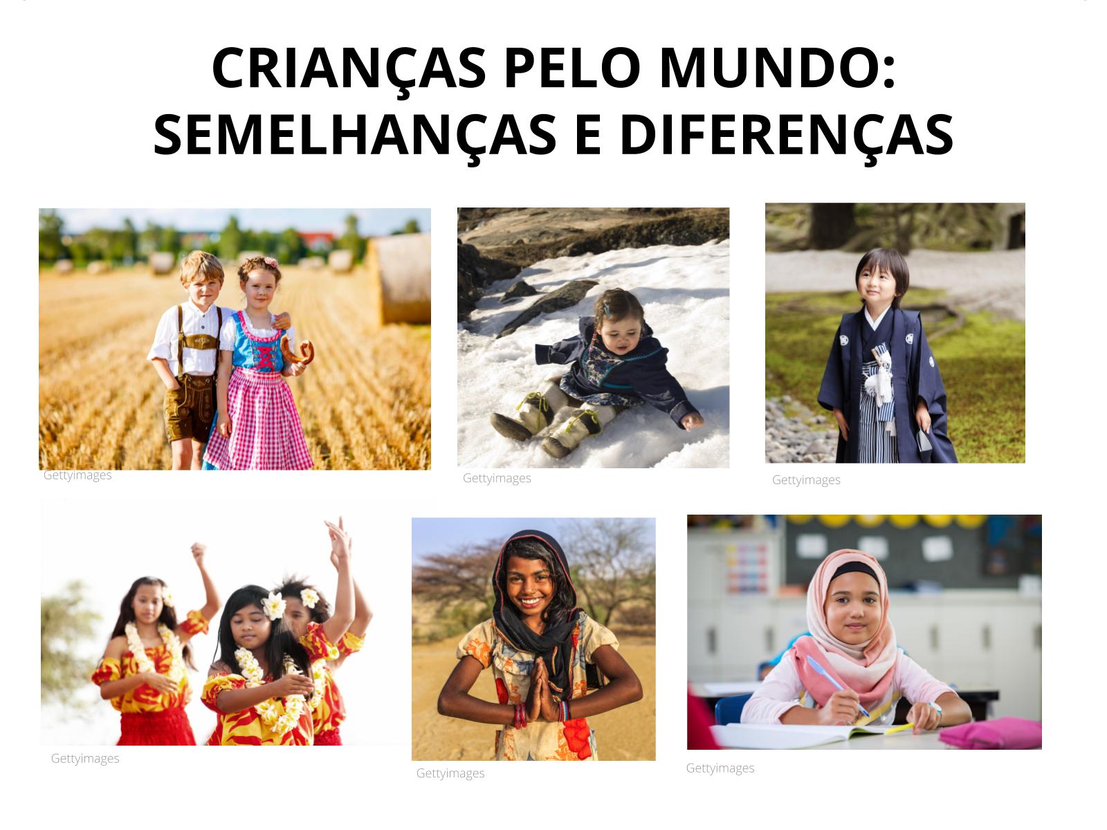 A criança em diferentes lugares do mundo