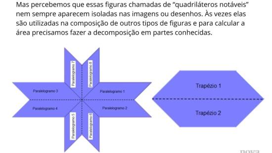 Resolução de problemas: área de paralelogramos, losangos e trapézios