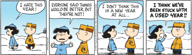 Os vários usos do present perfect. ©1966 Peanuts Worldwide LLC, dist. by Universal Uclick