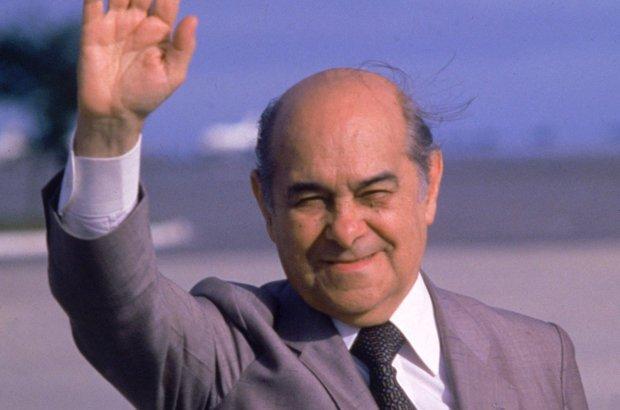 Tancredo Neves, governador de Minas Gerais e candidato do PMDB à Presidência da República.