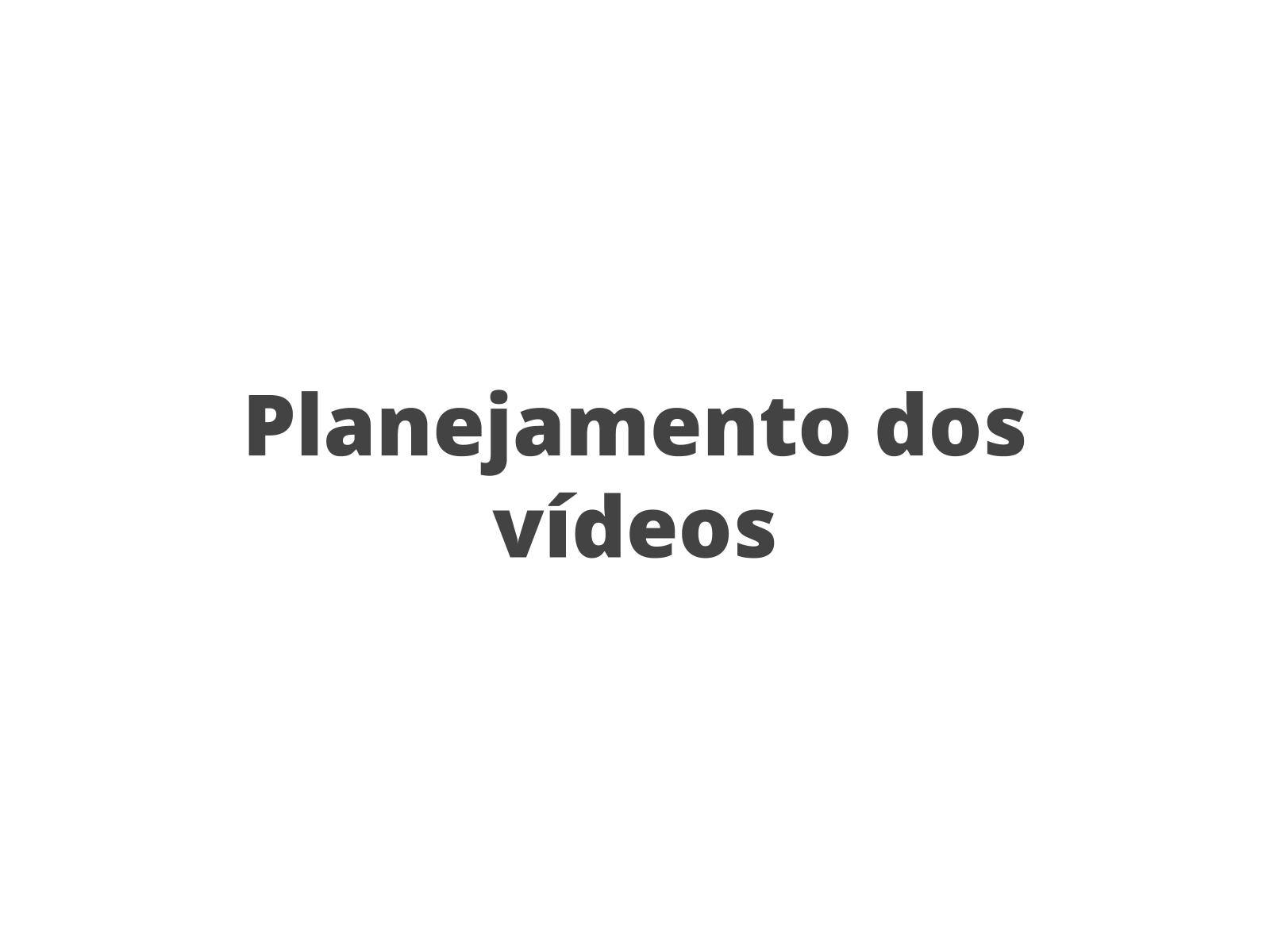 Planejamento da produção de um vídeo de divulgação científica