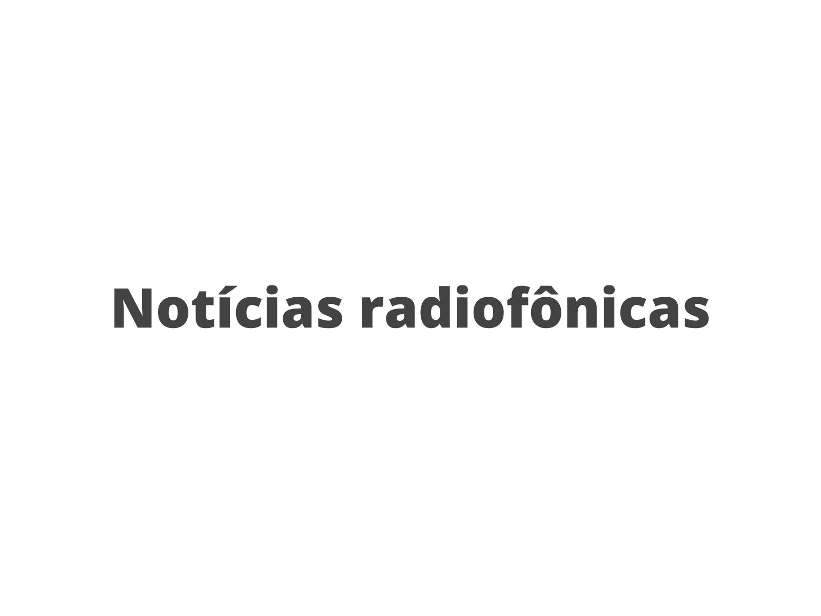 Elementos estruturais de notícias radiofônicas