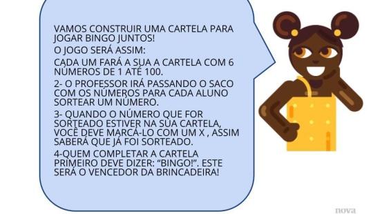 Jogo de Bingo: leitura escrita de números