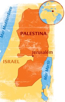 Como é a convivência entre árabes e judeus na Palestina? Ilustração: Bruno Algarve