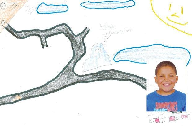 Jonas Vieira, 12 anos, concluiu que é melhor andar a pé do que ficar parado no trânsito. Ilustração: reprodução. Foto: Arquivo pessoal/Jonas Vieira