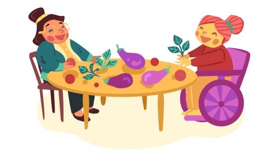 Exploração sensorial com Alimentos