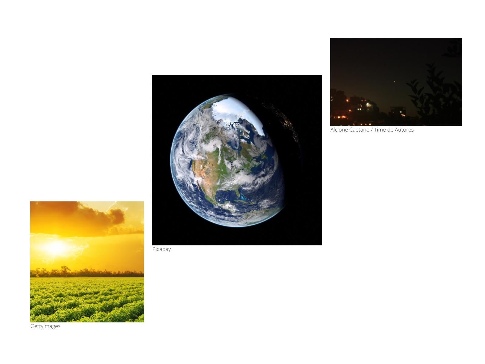 As posições relativas do Sol, da Terra e da Lua durante o dia e a noite
