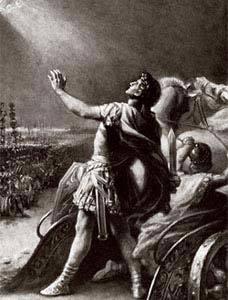 Conversão de Constantino ao cristianismo em pleno campo de batalha: fé marca nova era. Foto: Bettmann/Corbis /Stock Photos
