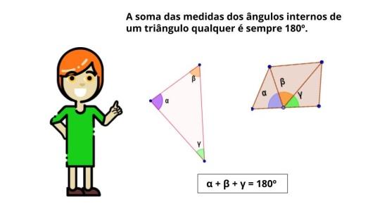 Soma das Medidas dos  ngulos Internos de um Triângulo Qualquer