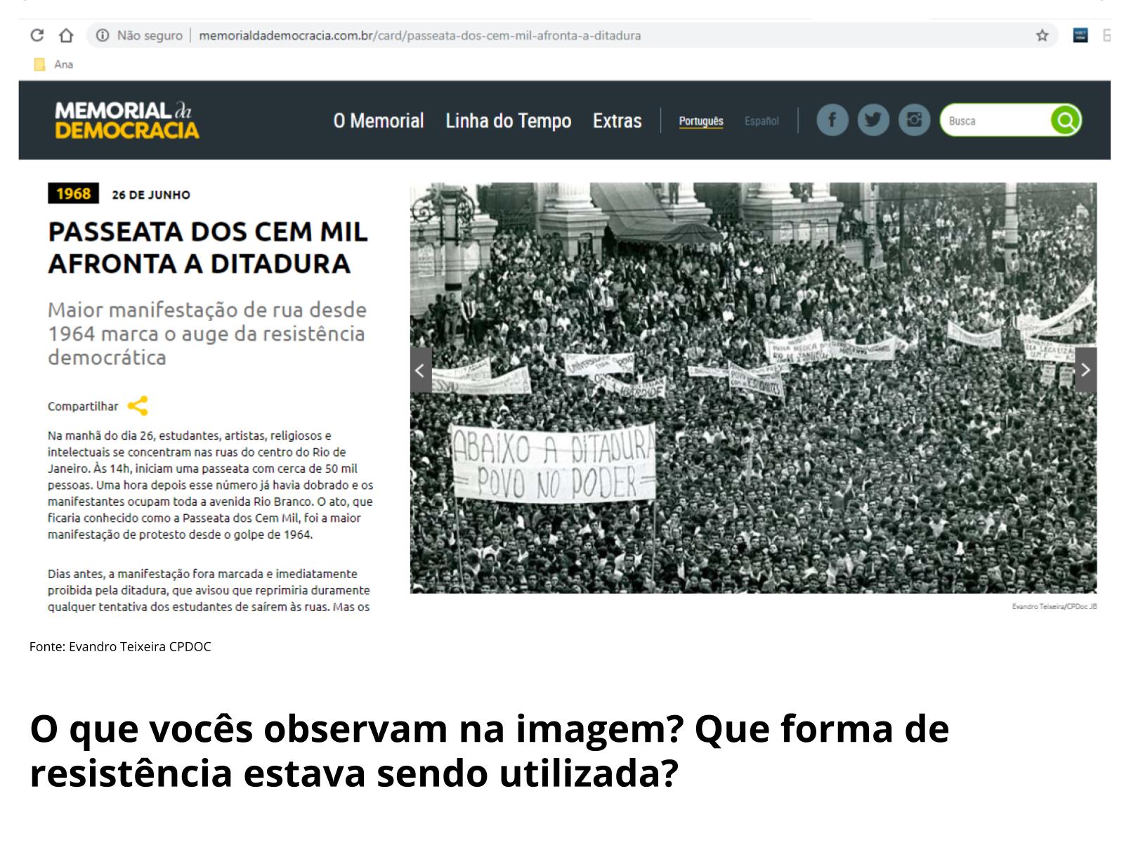 Movimentos de resistência à ditadura civil-militar no Brasil