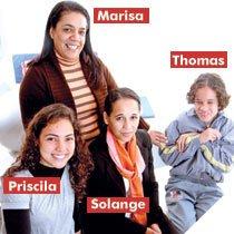 Priscila, Solange, Marisa e Thomas. Foto: Raoni Madalena