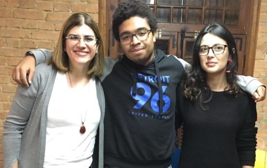 Foto de Debora Garofalo, André Menezes e Priscila Arce