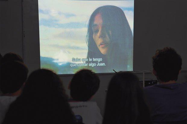 No Colégio Miró, os alunos assistiram a flmes com falas e legendas em espanhol. Valter Pontes