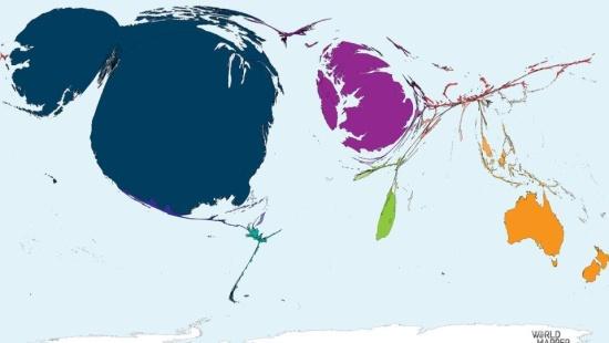 As diversas formas da anamorfose geográfica: interpretando fenômenos quantitativos